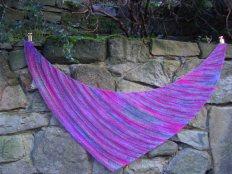 Quaker yarn stretcher shawl