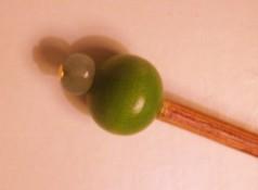 Beaded shawl pin