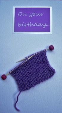 Birthday card for a knitter