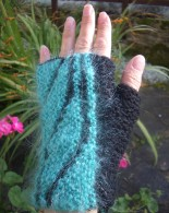Finished mohair mitt