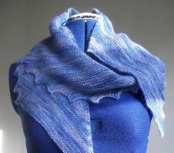 Blue Wensleydale scarf