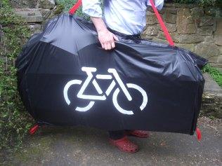 Bike in bag being carried